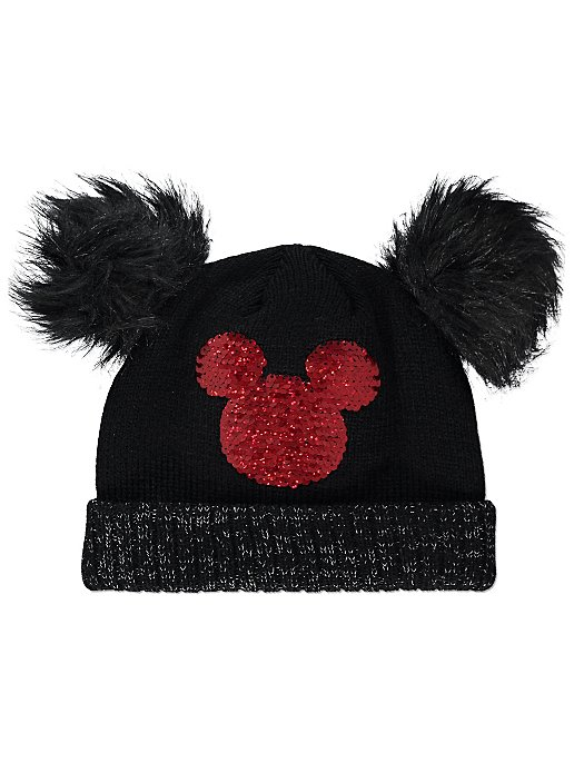 Disney Minnie Mouse Swipe Sequin Beanie Hat  079e732d86d