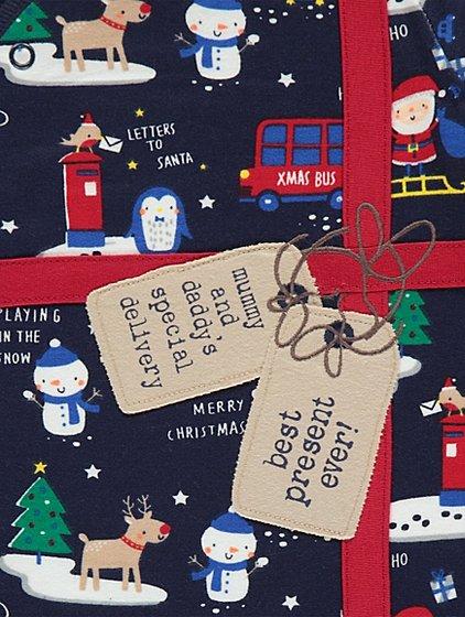 navy best present ever christmas sleepsuit - Best Christmas Present Ever