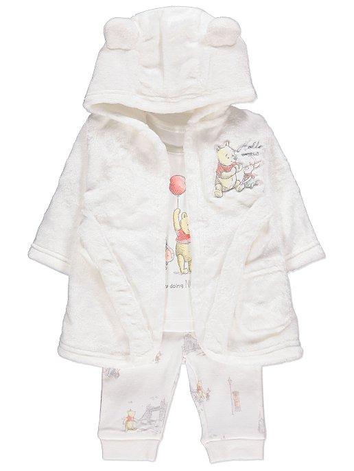 Disney Winnie The Pooh Pyjamas and Dressing Gown Set  5c9a796f0d02