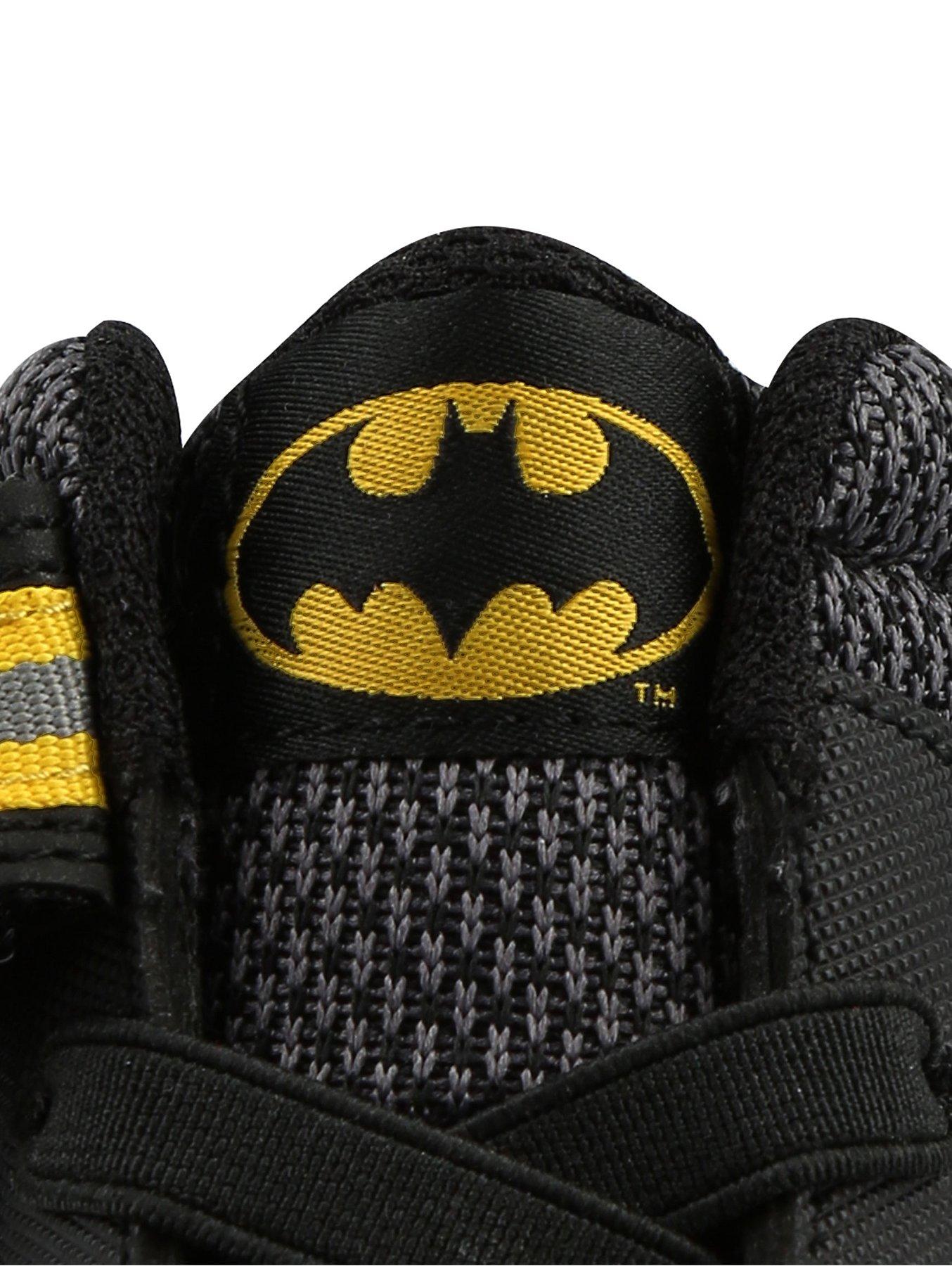 5a17bcf9a47843 DC Comics Batman Black 1 Strap High Top Trainers. Reset