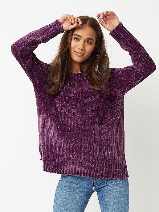 9c202451fbb7 Plum Chenille Knitted Jumper