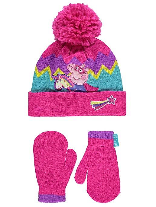 b355eff9df483 Peppa Pig Hat and Gloves Set