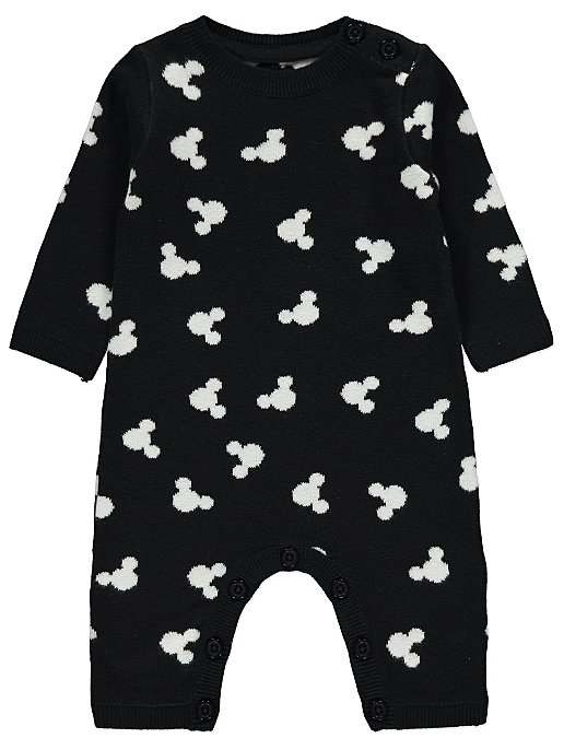 c6953211cc5 Disney Mickey Mouse Black Knitted Romper. Reset