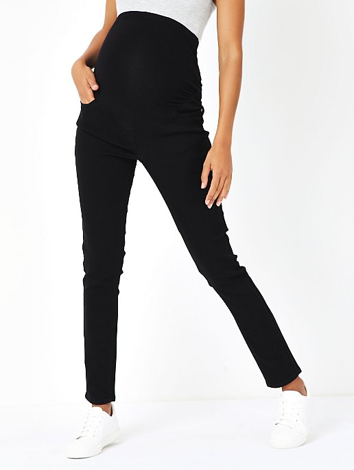 6824cb51845f2 Maternity Black Over Bump Skinny Jeans | Women | George
