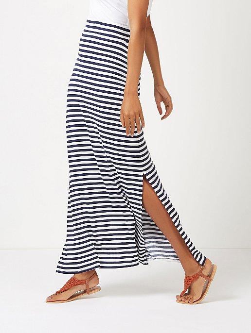c45deccd8d06d Navy Striped Jersey Maxi Skirt | Women | George