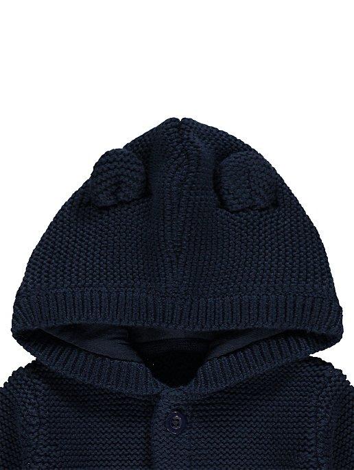 a2f414631 Navy Chunky Knit Ear Hooded Cardigan