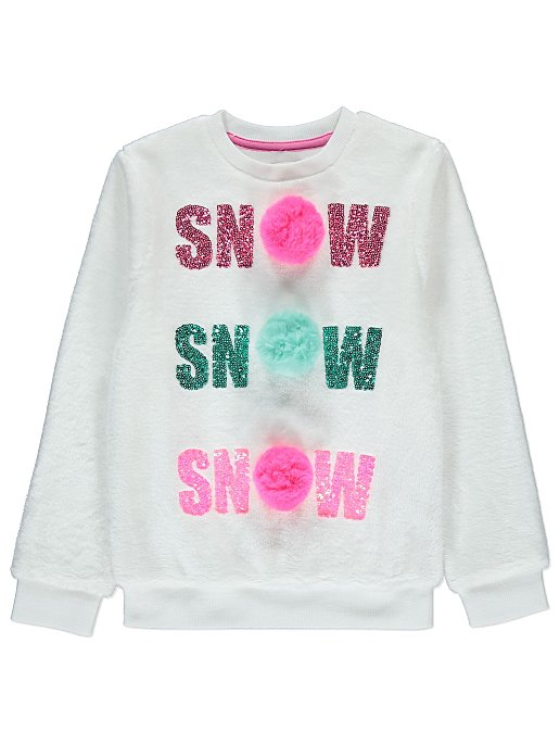 deb56ffe5692 Pom-Pom Snow Slogan Christmas Jumper