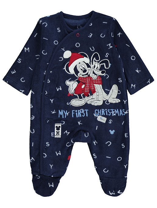 0cec93b359d7 Disney Mickey Mouse and Pluto My First Christmas Fleece Sleepsuit ...