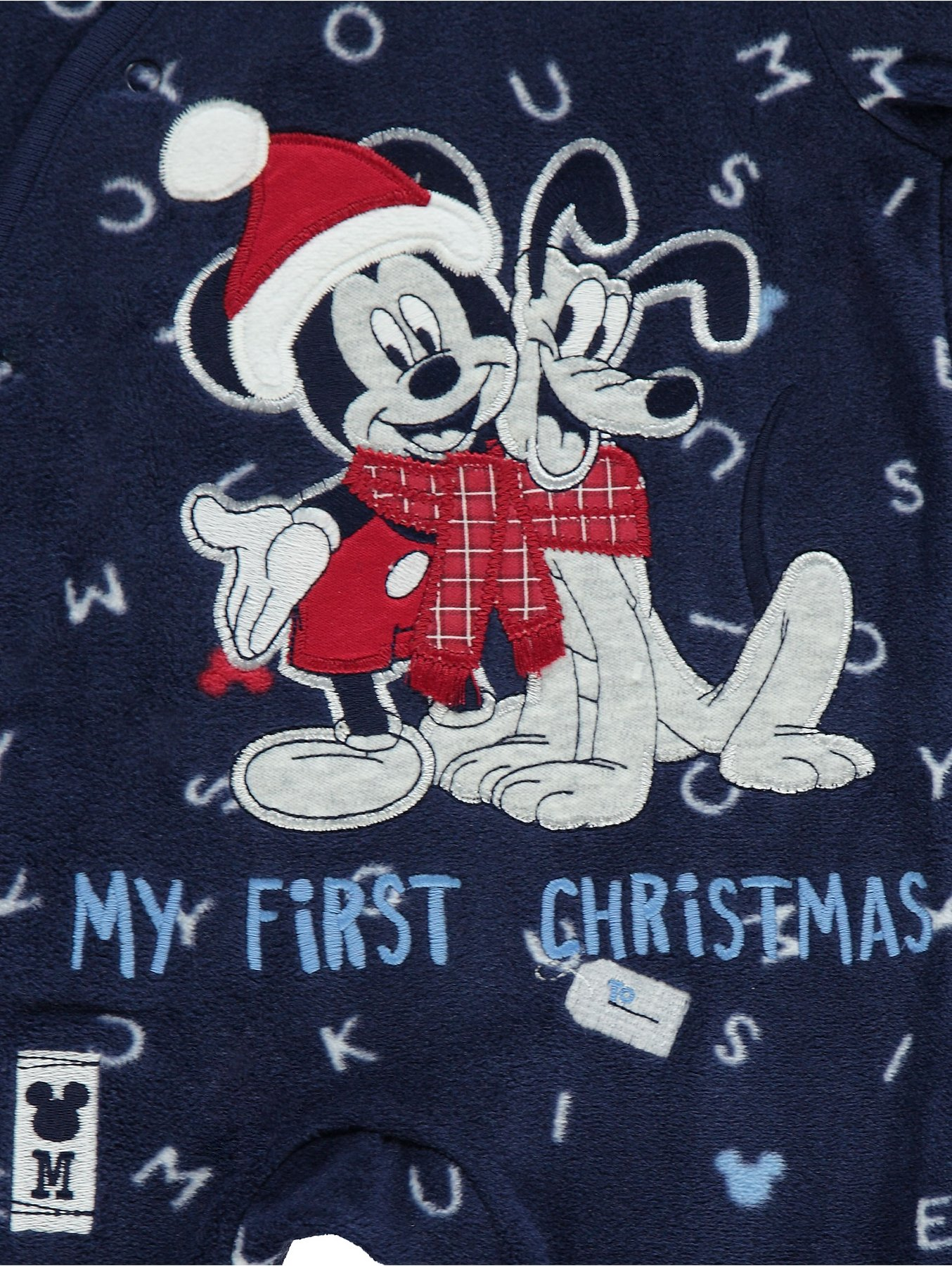 a0c28dc91e0c Disney Mickey Mouse and Pluto My First Christmas Fleece Sleepsuit ...