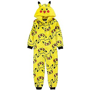 24f8006fe561 Pokémon Pikachu Yellow Fleece Onesie