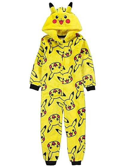 Pokémon Pikachu Yellow Fleece Onesie   Kids   George