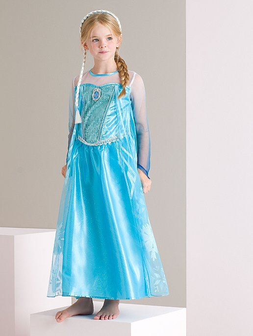 1e9b945e1f42f Frozen Elsa Dress blue girls play party fancy dress costume UK STOCK Kids'  Clothes, ...