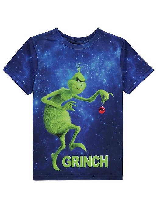 01df55ad9 Dr. Seuss The Grinch Blue Christmas T-Shirt | Kids | George