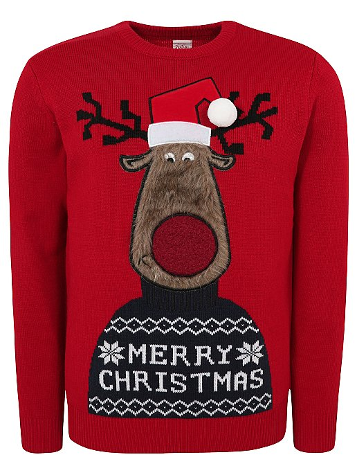 popular design detailed images many fashionable Red Rudolph Adult Mini Me Christmas Jumper