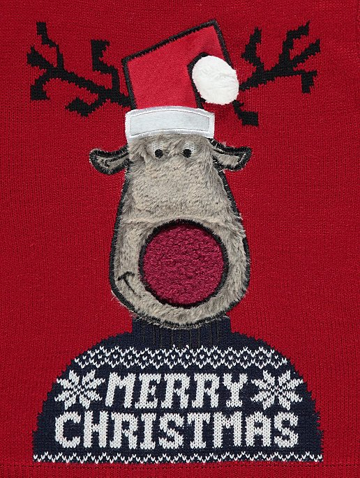7922fbabdd2e Red Rudolph Knitted Kids Mini Me Christmas Jumper