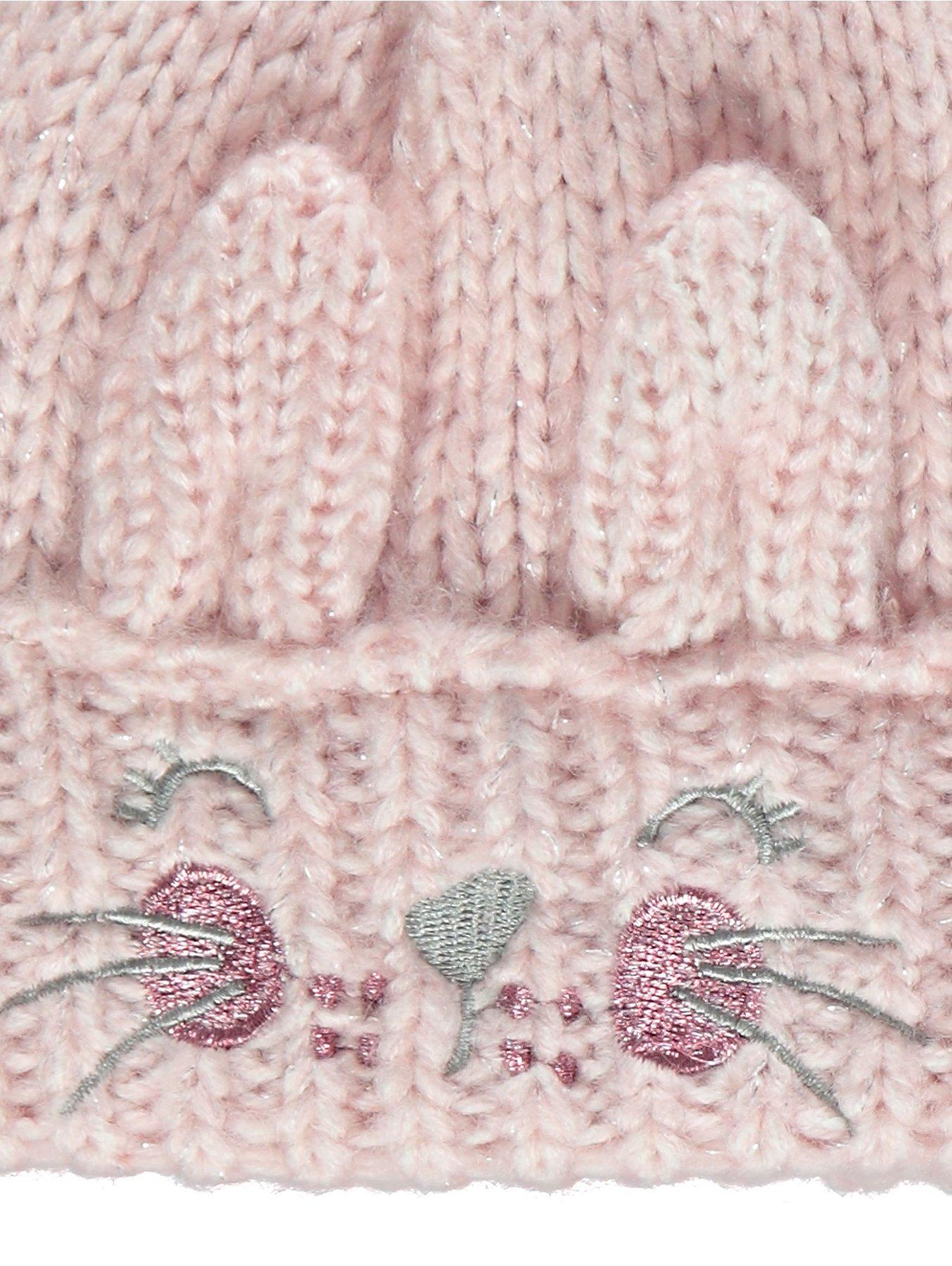 Pink Sparkling Bunny Bobble Hat. Reset 8524c3ffec94