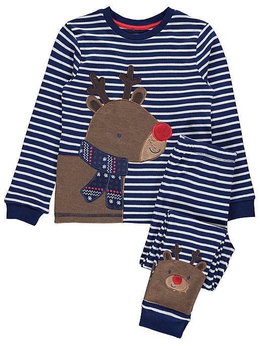 498f2154d0 Navy Reindeer Christmas Pyjamas. Reset