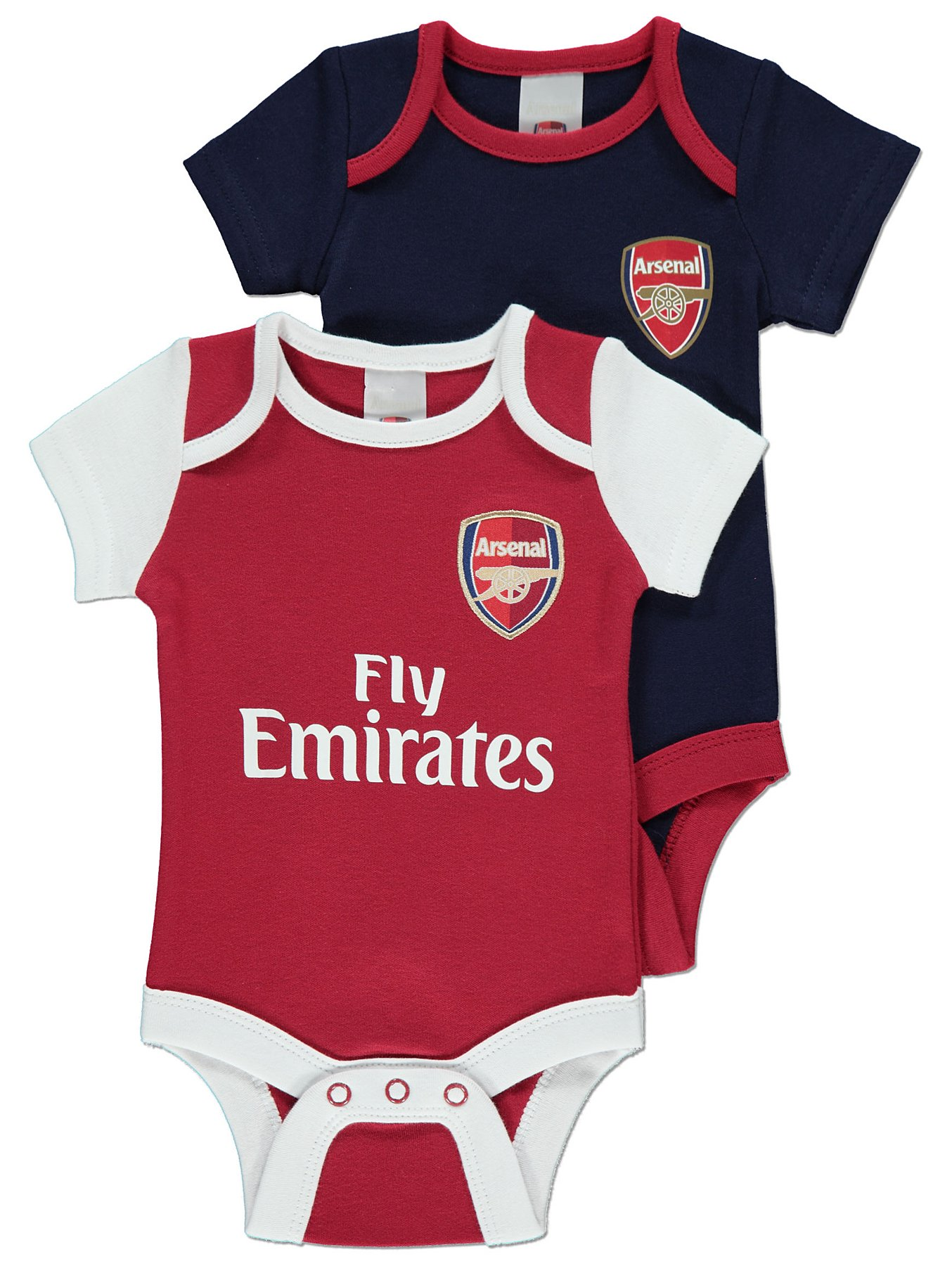 new style 14516 7ebe4 Official Arsenal FC Bodysuits 2 Pack