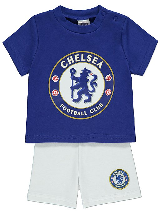 26ce454a5 Official Chelsea FC T-Shirt and Shorts Outfit