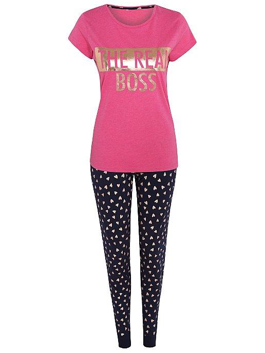 5618abe70f Pink Real Boss Adult Mini Me Christmas Pyjamas. Reset
