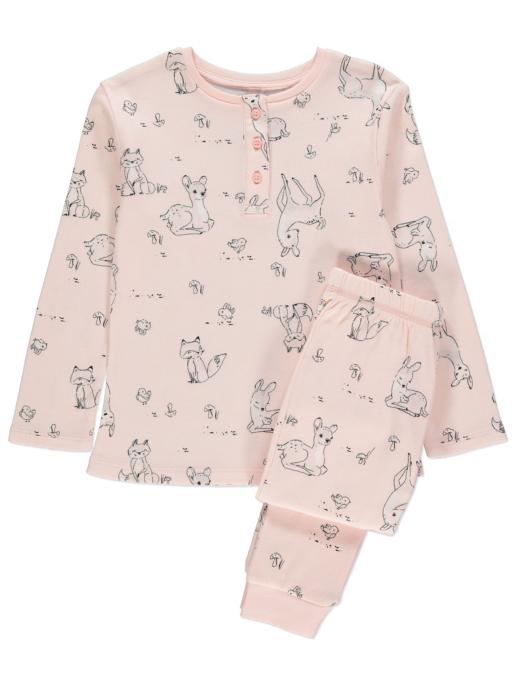 Long Sleeve Deer Pyjamas And Dressing Gown Set Kids George