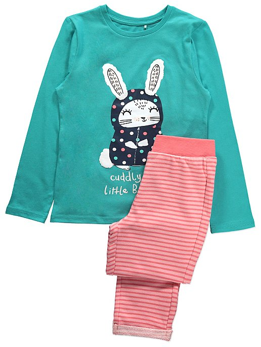 826ef37982 Navy Polka Dot Zip-Up Dressing Gown and Pyjamas Set