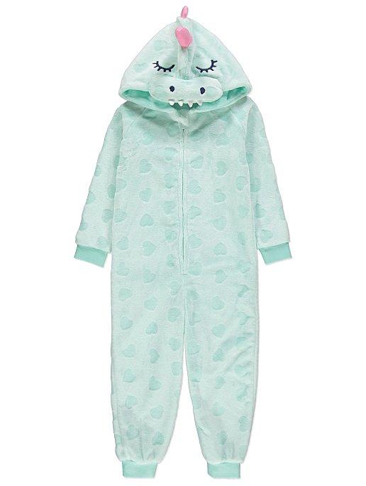 cheapest price top style pre order Mint Dinosaur Hooded Fleece Onesie