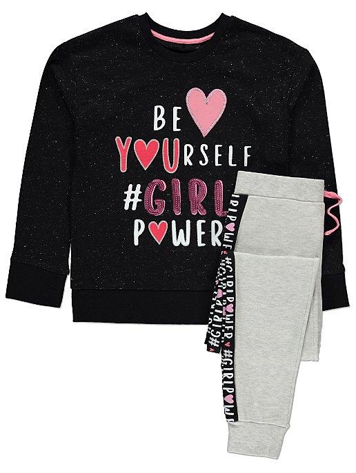 a0b1f855 Girl Power Sequin Pyjamas   Kids   George