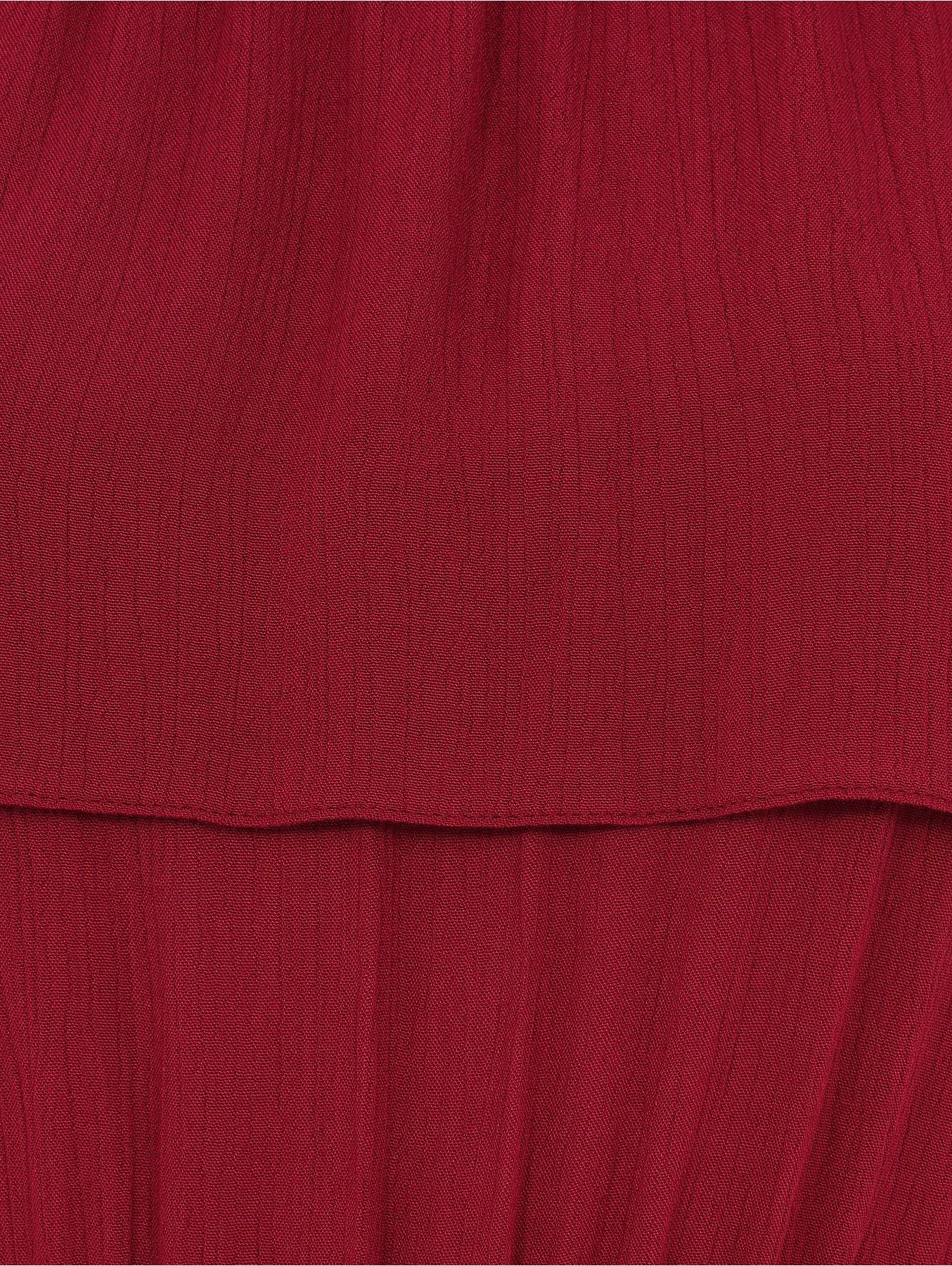 30ee2550d3a Burgundy Textured Bardot Jumpsuit