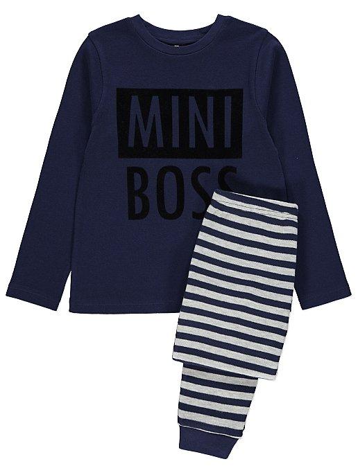 a0d478bc04 Navy Boss Kids Mini Me Christmas Pyjamas. Reset