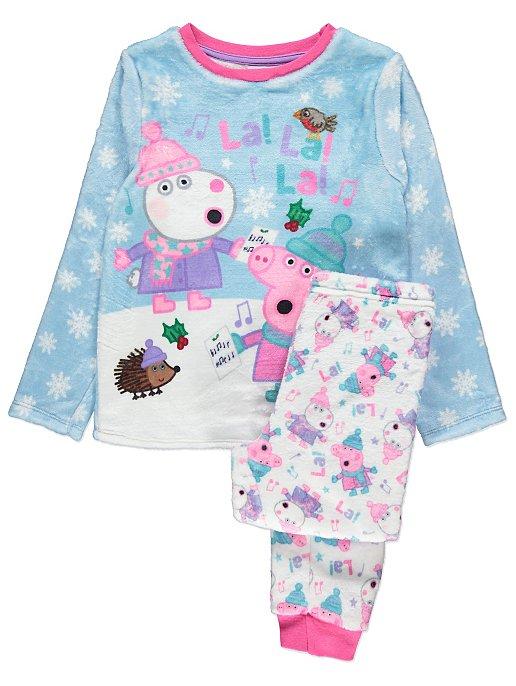 Peppa Pig Fleece Long Sleeve Winter Pyjama Set  c92d4d3a7