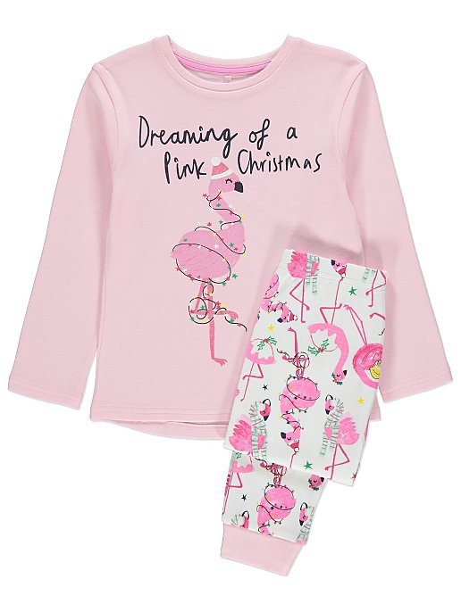 329d69085 Pink Flamingo Kids Mini Me Christmas Pyjamas | Kids | George