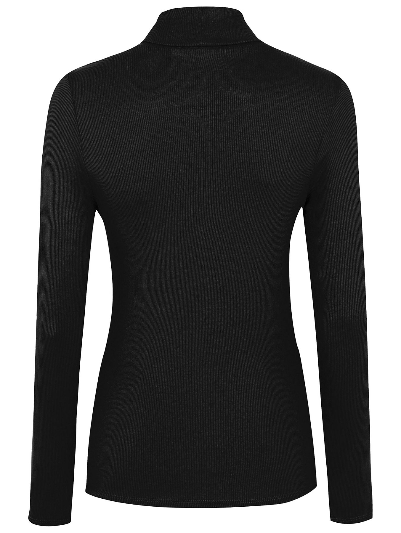 Black Ribbed Roll Neck Top. Reset f5ff09b49