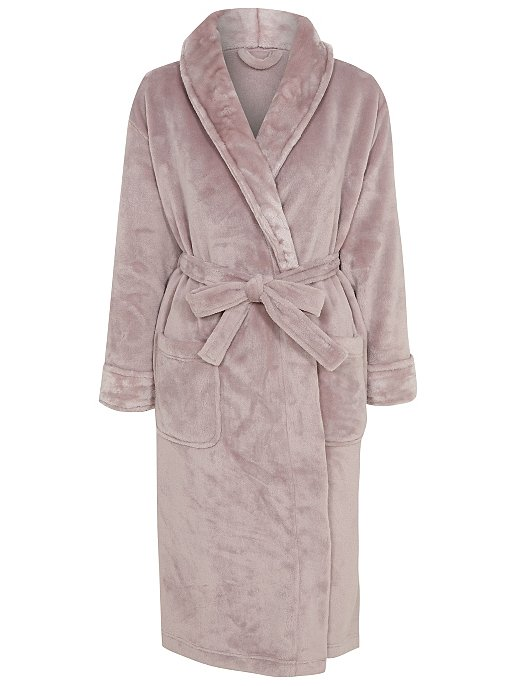 877569369f Mocha Fleece Dressing Gown. Reset