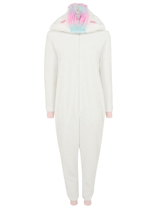top-rated discount special section exceptional range of colors White Shimmering Unicorn Fleece Onesie