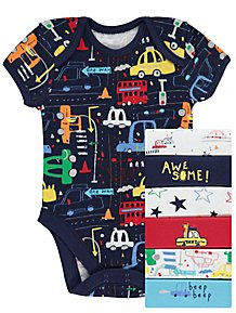 Baby Boys Bodysuits Baby Clothes George At Asda
