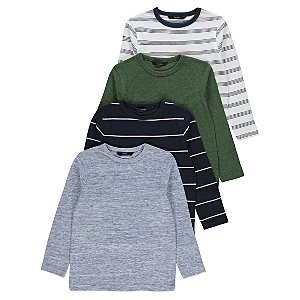 Long Sleeve Tops 4 Pack