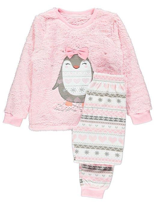 7c1c42017 Pink Fleece Penguin Pyjama Gift Set