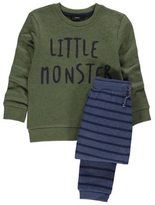 Little Monster Sweatshirt and Joggers Set