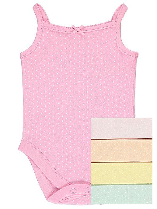 58c723a4e Spot Print Strappy Bodysuits 5 Pack