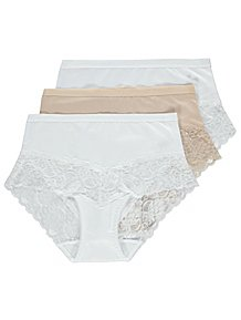 8c9af15e60 Lace Trim Full Briefs 3 Pack