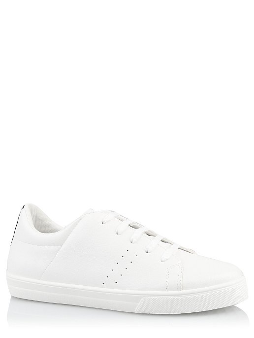 7b677dfcec Red Heel Stripe White Trainers