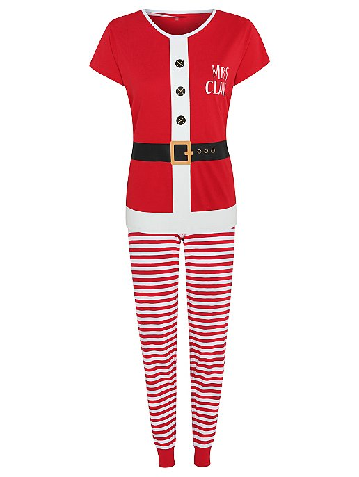 Red Mrs. Claus Matching Christmas Pyjamas  763ef8212