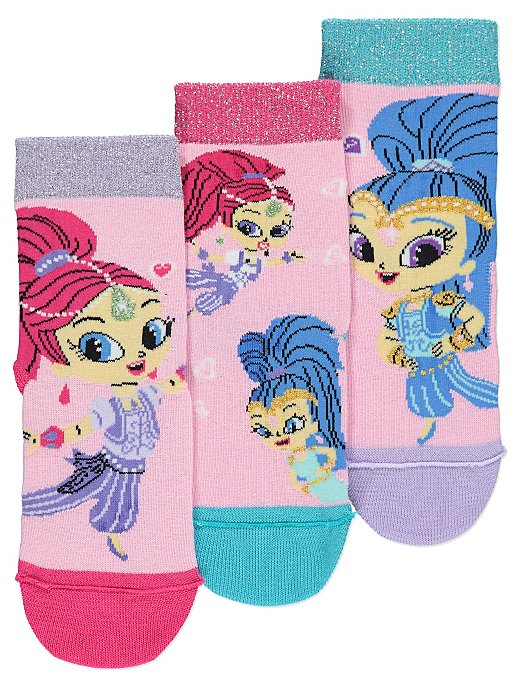 358b2599d7 Shimmer and Shine Socks 3 Pack. Reset