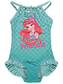 462990278d Disney Princess The Little Mermaid Slogan Swimsuit