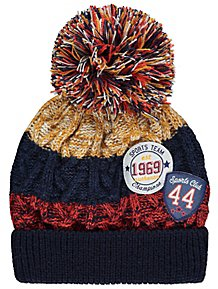 Collegiate Chunky Knit Fleece Lined Bobble Hat 6ad5a44f89ee