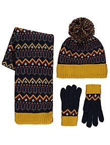 Fleece Lined Fairisle Hat 02134392aa6