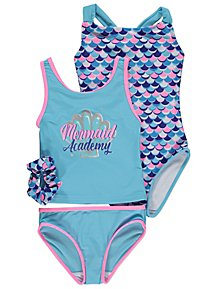 745a85ce43 Mermaid Swimsuits and Hair Accessory Set 2 Pack