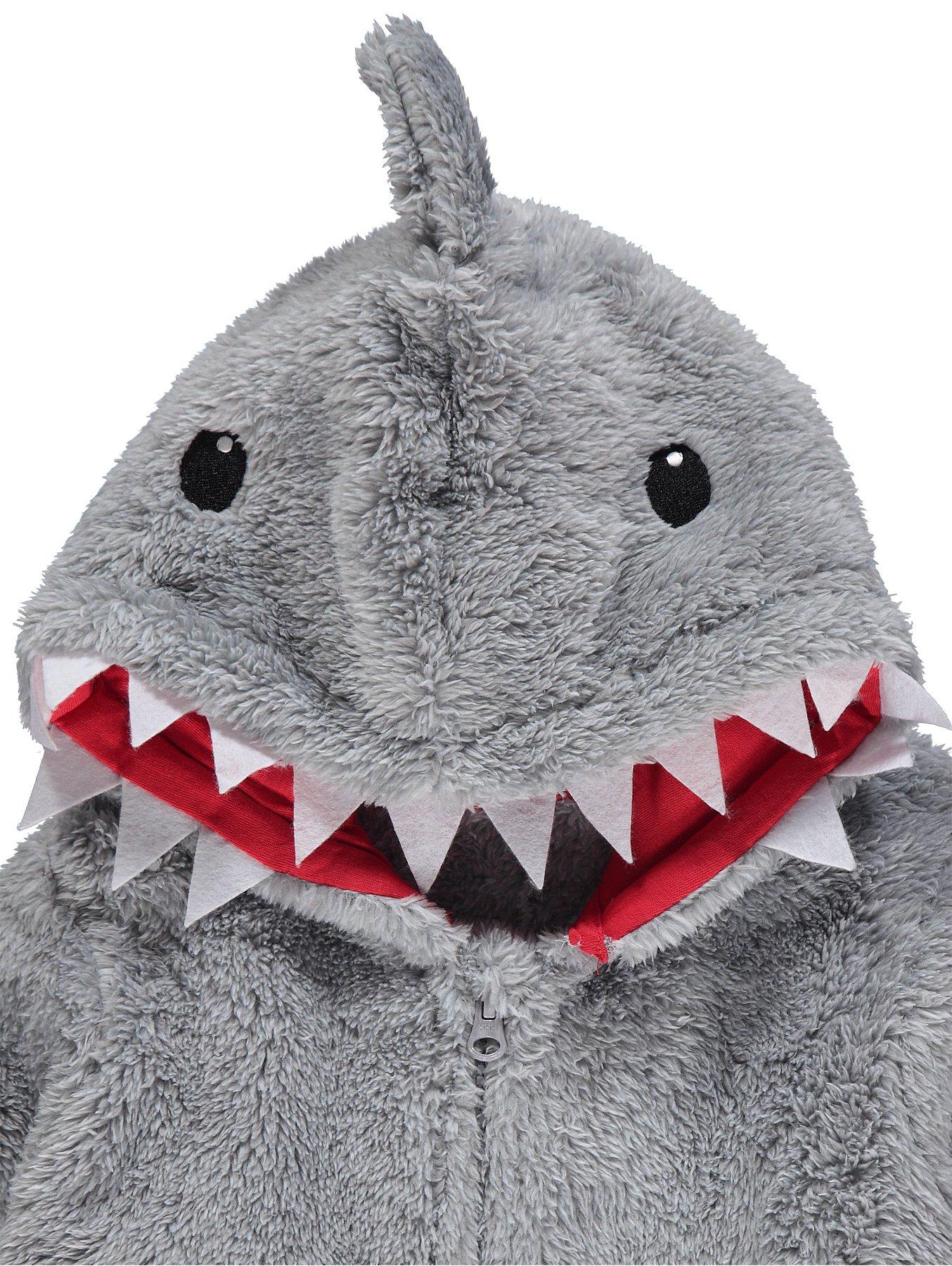 063d556ea Grey Shark Fleece Onesie