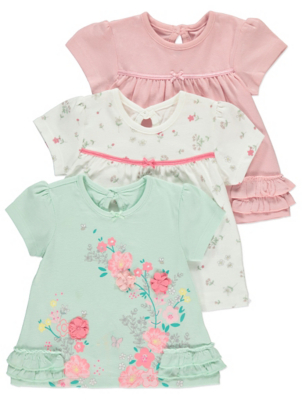 Mint Floral Tops 3 Pack